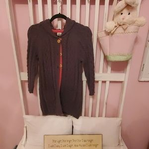 Mini Boden button up girl sweater size 7-8Y